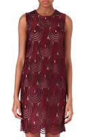 Christopher Kane Sleeveless Lace Circle Dress - Lyst