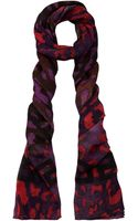 Versace Purple Leopard Print Scarf - Lyst