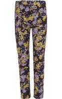 Erdem Melinda Blu Dahlia Print Trousers - Lyst