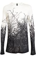Gareth Pugh Gareth Pugh Tree Printed Jersey Top - Lyst