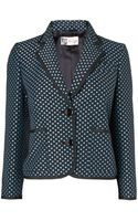 Boutique By Jaeger Polka Dot Cropped Blazer - Lyst