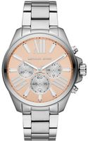 Michael Kors Midsize Silver Color Stainless Steel Wren Chronograph Watch - Lyst