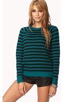 Forever 21 Striped Sweater - Lyst