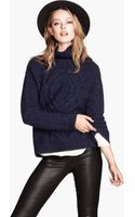 H&M Knitted Poloneck Jumper - Lyst