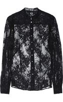 McQ by Alexander McQueen Floral lace Blouse - Lyst