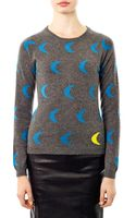 Chinti And Parker Moon Intarsia Knit Sweater - Lyst
