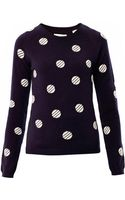 Chinti & Parker Polka-dot Cashmere Sweater - Lyst