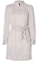 Marc By Marc Jacobs Silk Minetta Dress in Anique White-multi - Lyst