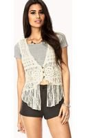 Forever 21 Layered Crochet Lace Vest - Lyst