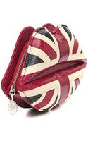Lulu Guinness Lips Union Jack Clutch - Lyst
