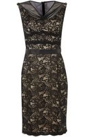 Js Collections Lace V Neck Shift Dress with Illusion Neck - Lyst
