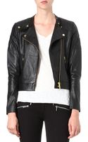 Michael Kors Quilted Leather Biker Jacket - Lyst