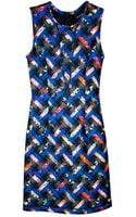 Cynthia Rowley Sleeveless Bonded Dress - Lyst