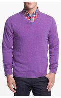 John W. Nordstrom® V Neck Sweater - Lyst