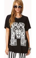 Forever 21 Tribal Print M Tee - Lyst