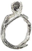 Linda Friedrich Jewelry Silver Branch Wild Diamond Ring - Lyst