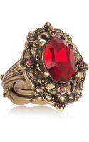Oscar de la Renta Goldplated Crystal Ring - Lyst