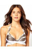 Asos Mix and Match Stripe D Plunge Halter Fuller Bust Bikini Top Df - Lyst