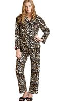 Betsey Johnson Two Piece Flannel Pajama Set - Lyst