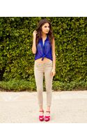 Forever 21 Twill Skinny Pant - Lyst