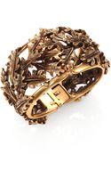 Oscar de la Renta Oak Leaf Cuff Bracelet - Lyst