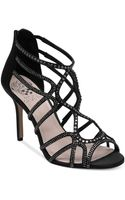 Vince Camuto Wessi Caged Mid Heel Evening Sandals - Lyst