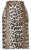 Burberry Prorsum Printed Calf Hair Skirt - Lyst