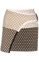 Kenzo Metallic Mini Skirt - Lyst