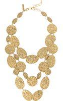 Oscar de la Renta Hammered Goldplated Necklace - Lyst