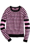 J.Crew Collection Cashmere Sleevestripe Sweater - Lyst