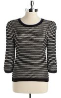 Kensie Striped Sweater - Lyst