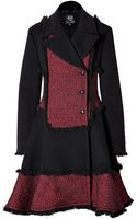 McQ by Alexander McQueen Wool Blend Fringed Coat  - Lyst