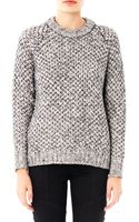 Theory Chunky Knit Wool Sweater - Lyst