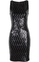 Alice + Olivia Aviana Zig Zag Sequin Fitted Dress - Lyst