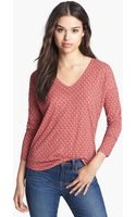 Lucky Brand Print Tie Back Top - Lyst