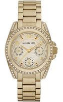 Michael Kors Ladies Mini Goldtone Glitz Watch - Lyst