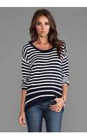 Juicy Couture Peyton Stripe Sweater in Navy - Lyst