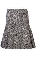 Lanvin Banded Waist Tweed Skirt - Lyst