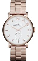 Marc By Marc Jacobs Baker Rosegold Stainless Steel Watch - Lyst