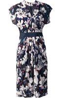 Paul Smith Black Label Flower Print Dress - Lyst