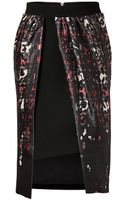 Preen By Thorton Bregazzi Trace Skirt in Tartan Leopard - Lyst