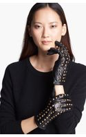Surell Studded Leather Gloves - Lyst