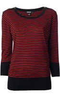 DKNY Striped Long Sleeve Top - Lyst