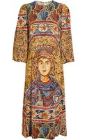 Dolce & Gabbana Mosaic Printed Crepe Column Dress - Lyst