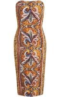 Dolce & Gabbana Mosaic Printed Crepe Dress - Lyst