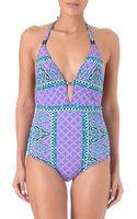 Nanette Lepore Moroccan Goddess Halterneck Swimsuit - Lyst