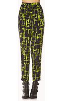 Forever 21 Abstract Windowpane Harem Pants - Lyst