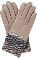 Maison Fabre Knitted Cuff Leather Gloves - Lyst