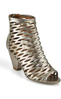 Jeffrey Campbell Produce Open Toe Bootie in Metallic Pewter - Lyst