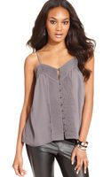 Guess Guess Top Sleeveless Sweetheart Pleated Tank - Lyst